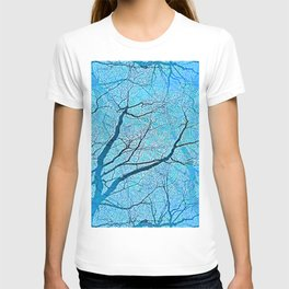 Interconnected Paths (ice blue) T-shirt