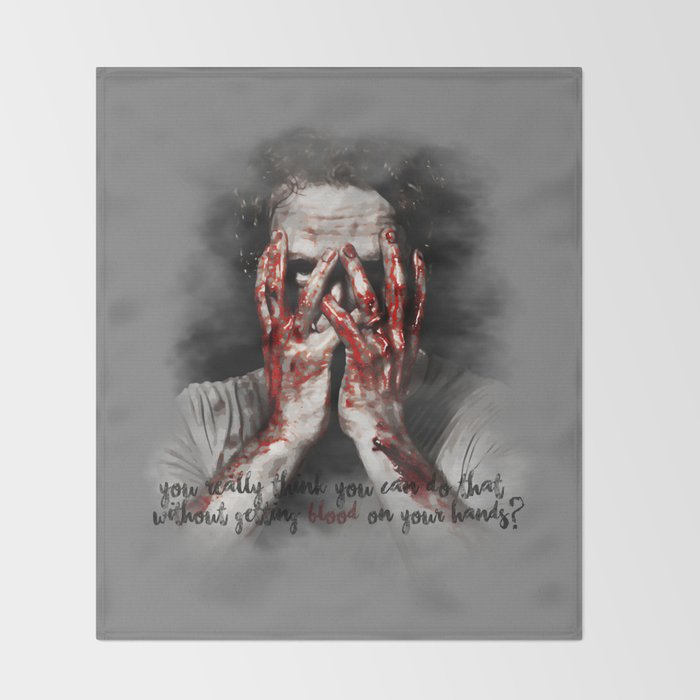 Walking Dead Throw Blankets Awesome Rick Grimes From The Walking Dead Throw Blanket By Cursedrose Society60