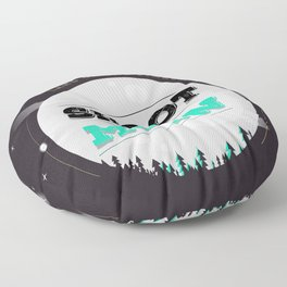 Shoot For The Moon, Land On the Stars Floor Pillow