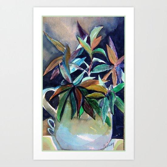 Blue Pitcher Art Print