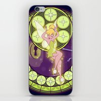 tinker bell iPhone & iPod Skins featuring Tinker Bell by NicoleGrahamART