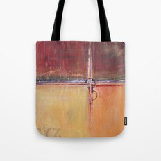 Cargo - Textured Abstract Painting - Red, Gold and Copper Art Tote Bag