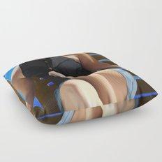 Blue Sun Floor Pillow