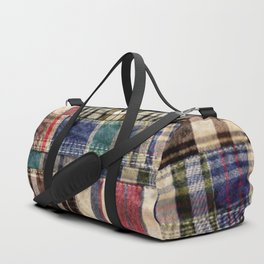 Patchwork Plaid / Tartan with stitch image Duffle Bag