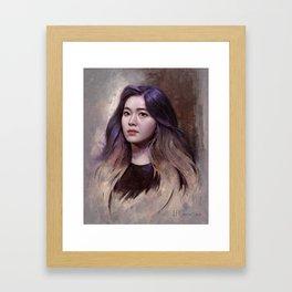 Irene of Red Velvet Framed Art Print