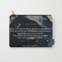 Paulo Coelho Quote on Elegance Carry-All Pouch