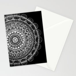 Silver Circle Mandala Stationery Cards
