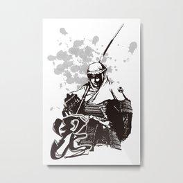 KENSHIN UESUGI Metal Print