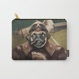Pete the Pilot Pug Carry-All Pouch