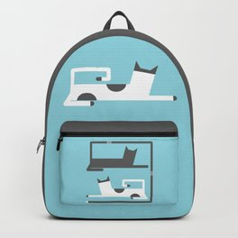 CATS IN LOVE - BLUE Backpack