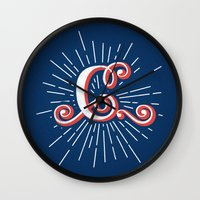 "randy c Wall Clocks featuring ""C"" by Madrid is Fun"
