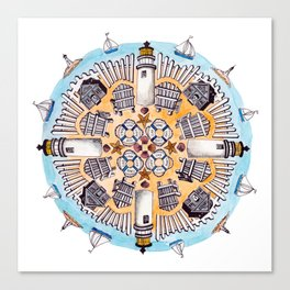 Cape Cod Mandala Canvas Print
