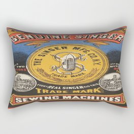 Vintage poster - Singer Sewing Machine Rectangular Pillow
