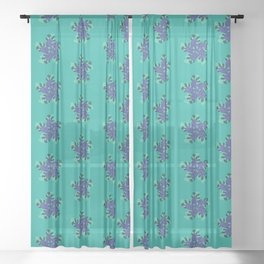 Abstract Fern Pattern Sheer Curtain