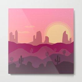 Sunrise Desert Metal Print