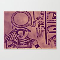 egyptian Canvas Prints featuring Egyptian (Horus) by Aaron Carberry