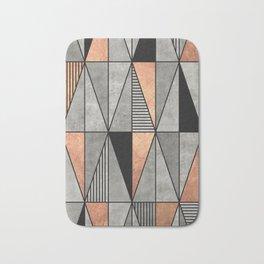 Concrete and Copper Triangles Bath Mat