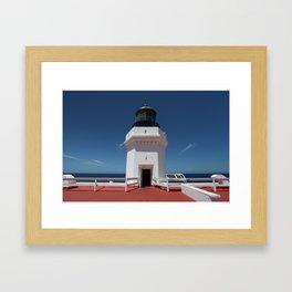 Light House Top Framed Art Print
