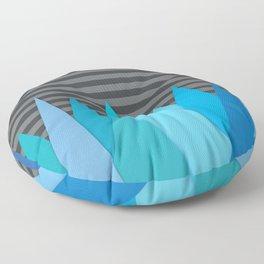 Blue Attack Floor Pillow