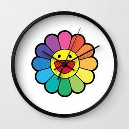 TAKASHI MURAKAMI FLOWER RAINBOW Wall Clock