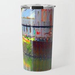 Pointillism: Snoqualmie Falls Travel Mug