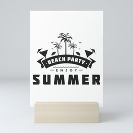 Beach party / Enjoy Summer Mini Art Print