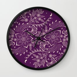 Vintage Floral elements III Wall Clock