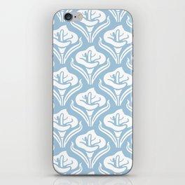 Calla Lily Pattern Light Blue iPhone Skin
