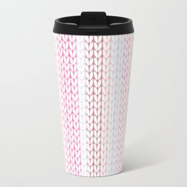Knitted pattern in pastel colours.2 Travel Mug