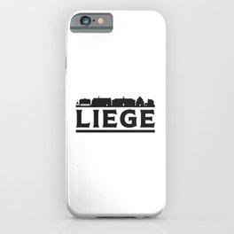 Liege Belgium City Skyline Cityscape Trip Gift iPhone Case