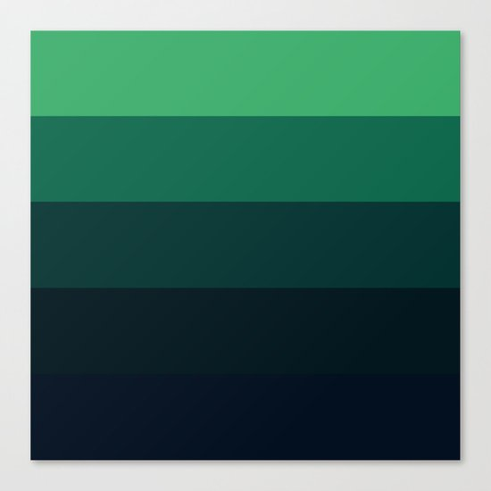 Forest Green Stripes Canvas Print