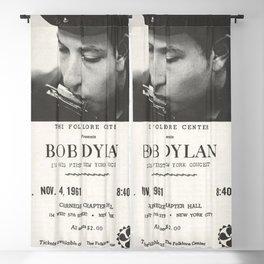 Vintage 1961 Bob Dylan Carnegie Hall Folk Festival Concert Gig Poster Blackout Curtain