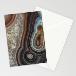 Mocha swirl Agate Stationery Cards