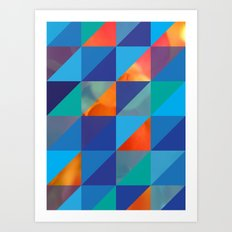 Triangles 4 Art Print