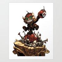 league of legends Art Prints featuring League of Legends Ziggs by Joel Cumpson