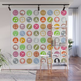 Science - Study Icons Wall Mural