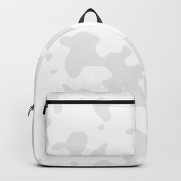 Large Spots - White and Pale Gray Backpack