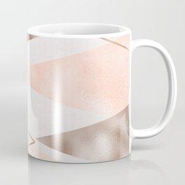 Rose gold french navy geometric Coffee Mug