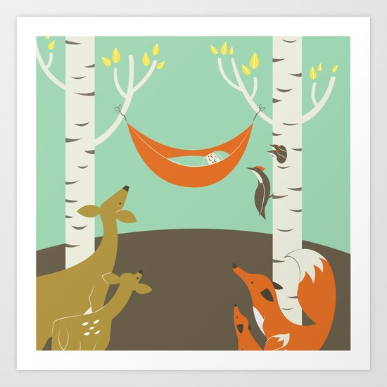 Woodland Baby Art Print
