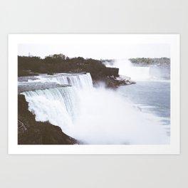 Niagra Falls on film Art Print