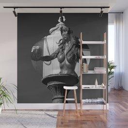 Mermaid In A Lamp Wall Mural