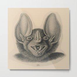Vintage Happy Bat Metal Print