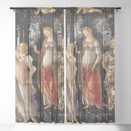 Primavera -Sandro Botticelli Sheer Curtain