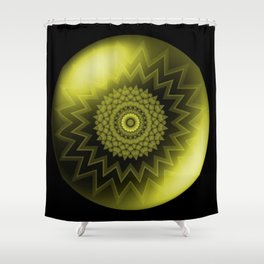 Solar Plexus Yellow Chakra Shower Curtain