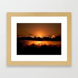 California Sunsets Framed Art Print