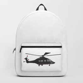 Black European Helicopter Backpack