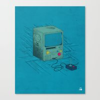 video game Canvas Prints featuring Old Video Game Console by ellygeh | Elly Medeiros