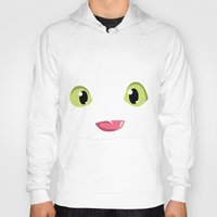 how to train your dragon Hoodies featuring How to train your dragon Toothless tongue by Komrod