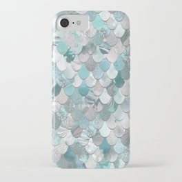 Mermaid Aqua and Grey iPhone Case