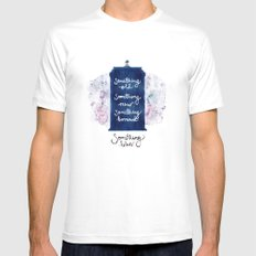 tardis - doctor who MEDIUM Mens Fitted Tee White